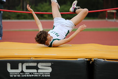 floor gymnastics(0.0), pole vault(0.0), physical exercise(0.0), athletics(1.0), track and field athletics(1.0), sports(1.0), high jump(1.0), athlete(1.0),