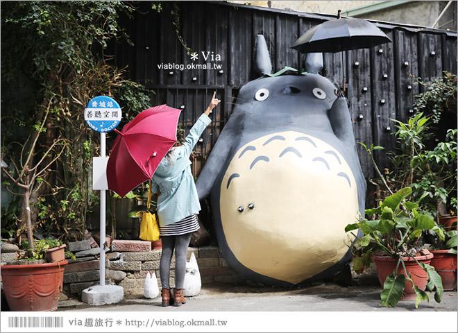 【大里龍貓】台中大里龍貓公車站《喬城站》~可愛的立體龍貓超吸睛!拍照去~10