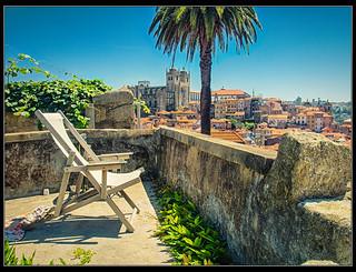 Descansando en Oporto