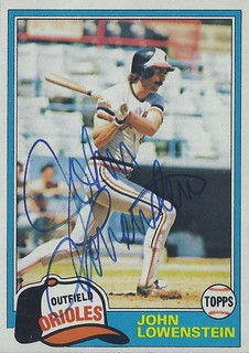 1981 Topps - John Lowenstein #591 (Outfielder) - Autographed Baseball Card (Baltimore Orioles)