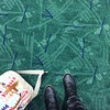 Not sure how I feel about the new #pdxcarpet but pleased that #portland has kept the faith by selling products with the old pattern. #leavingonajetplane #bebackTuesday #itsreallyearly