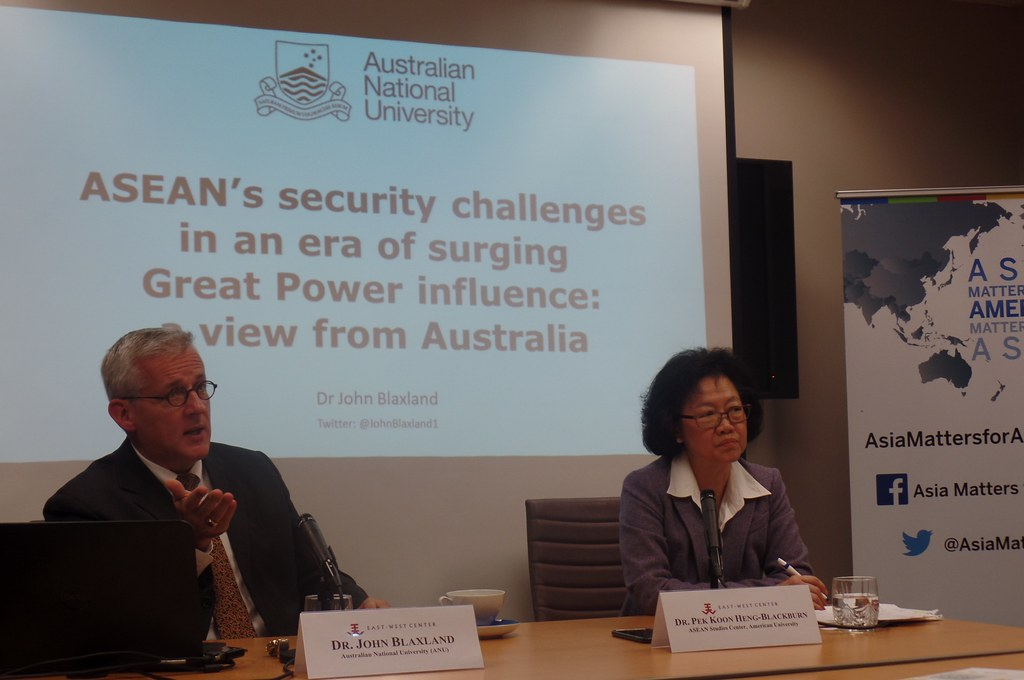 Dr. John Blaxland Senior Fellow, Strategic and Defence Studies Centre (SDSC),  College of Asia and the Pacific, Australian National University (ANU) & Dr. Pek Koon Heng-Blackburn (Moderator) Director, ASEAN Studies Center, American University