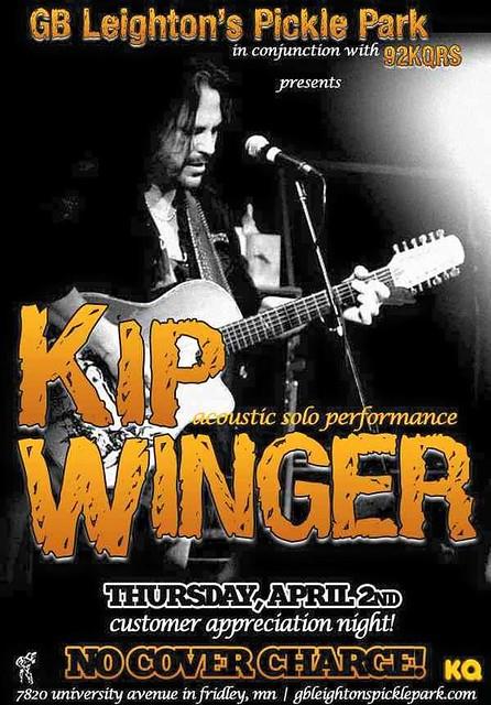 04/02/15 Kip Winger @ GB Leigton's Pickle Park, Fridley, MN