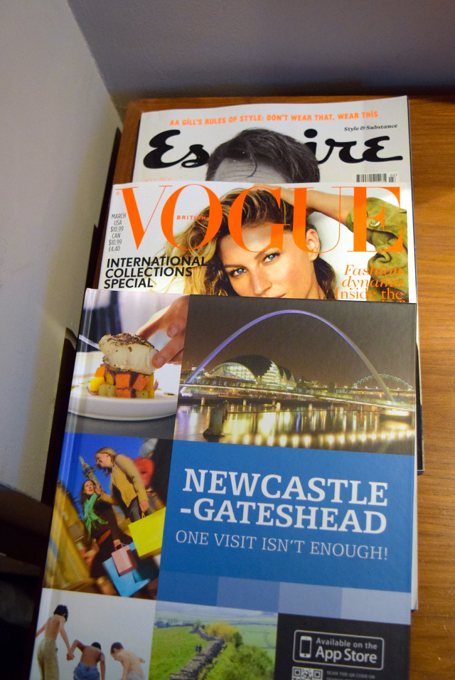 Room Magazines at Jesmond Dene House