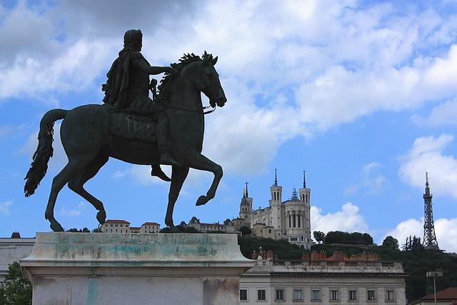 Fourvière, Louis XIV, Place Bellecour, Lyon, France, fotoeins.com