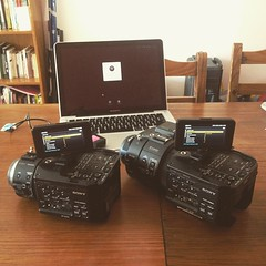 Empatando cámaras #Sony #FS700 #FS100 #cameras #setting #filmming #rodaje