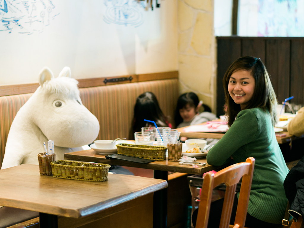 Dining with Moomin