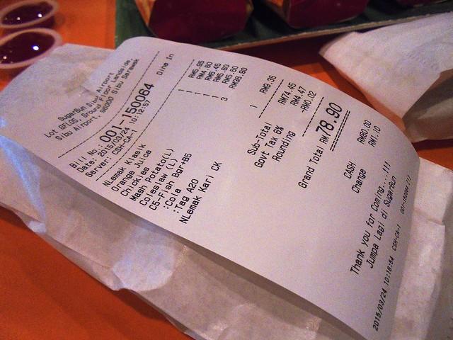 Cashier's receipt
