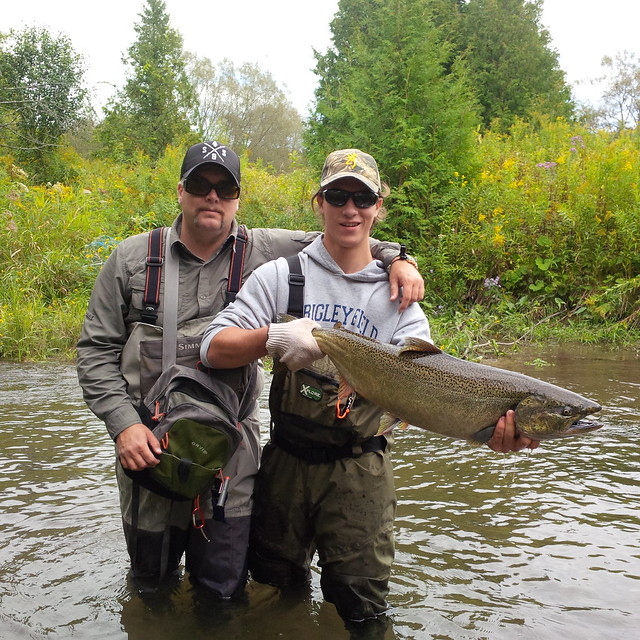 Mike guiding for Salmon