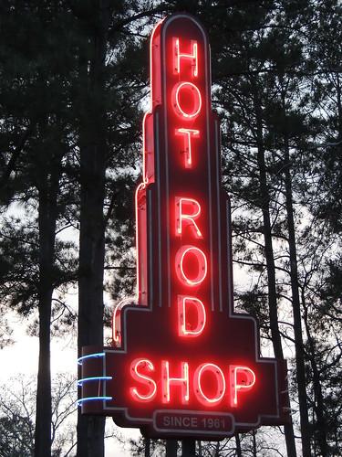 HOT ROD SHOP Neon