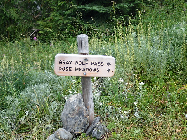 Gray Wolf Pass Sign