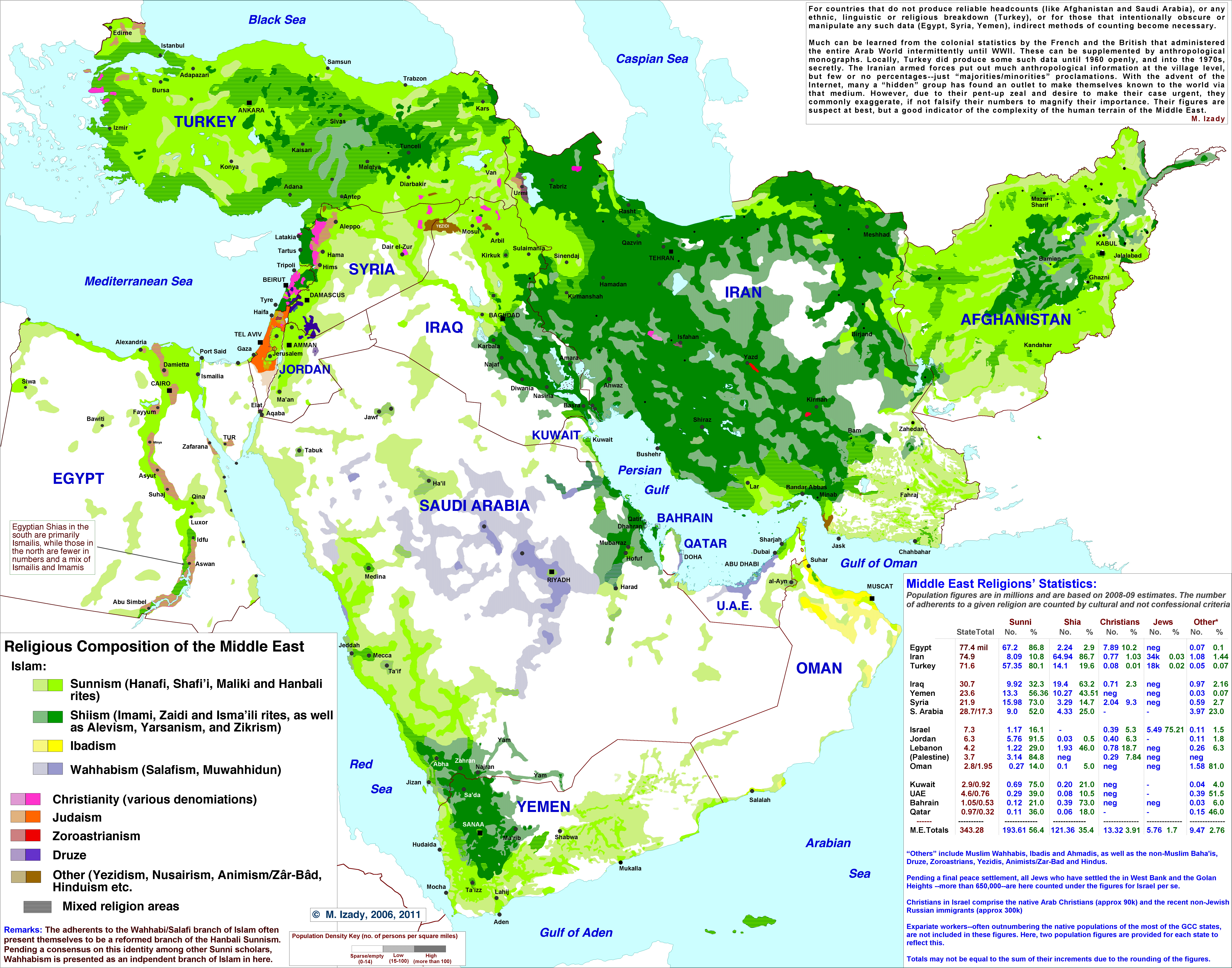 Detailed Middle East Religious Map X MapPorn - Major world religions map