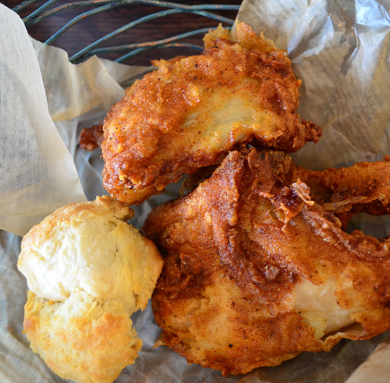 Fried Chicken and Buttermilk Biscuit