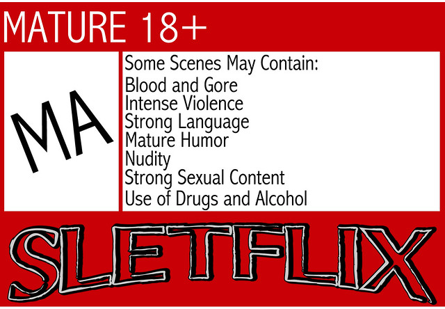 SLetFlix Warning Label