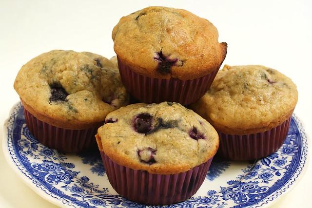 Muffins au yaourt grec et aux myrtilles