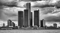 Detroit skyline, featuring the Renaissance Center