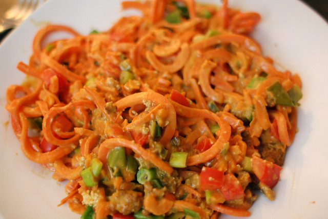 Peanut Thai Sweet Potato Noodles