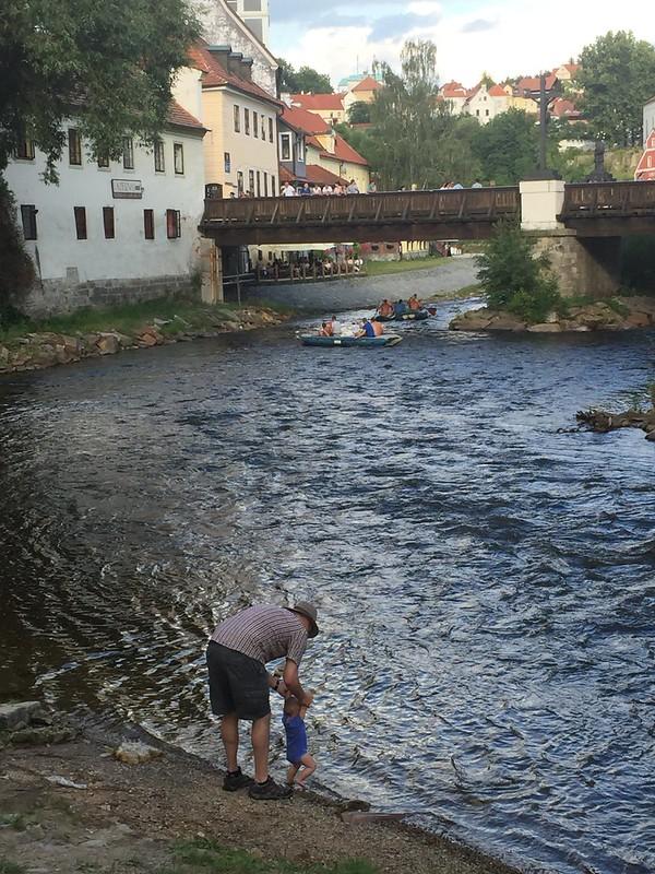 Český Krumlov riverside