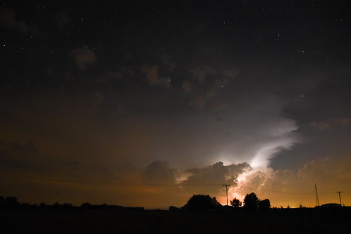 night stars atmosphere thunderstorm spectacle