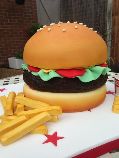 Burger Cake by Carol Hall