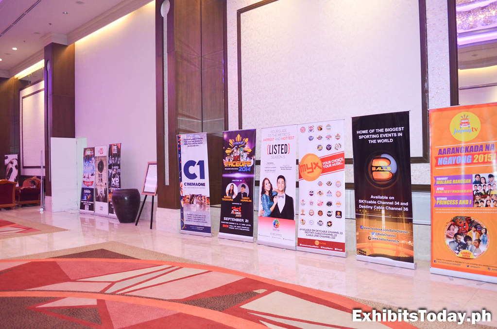 TV Programs display banner stands at the 16th FICTAP