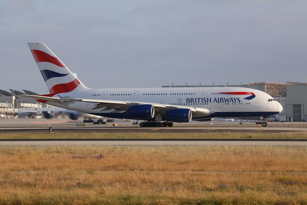 British AIrways A380-800 (G-XLEG) in Los Angeles (LAX)