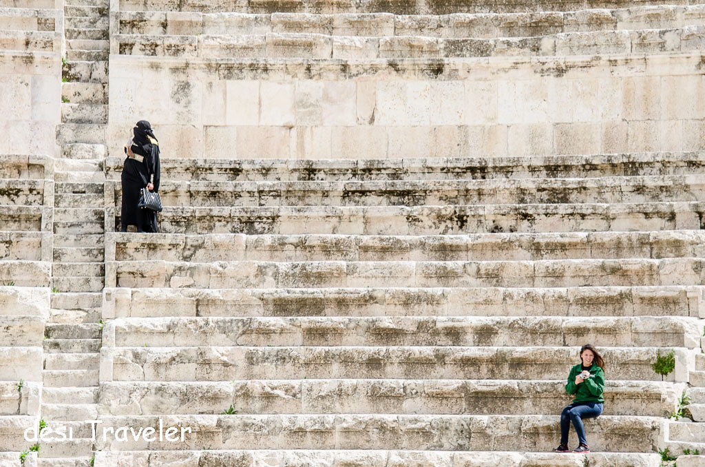 Women in Roman Theater Amman Jordan
