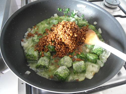 Add lentils