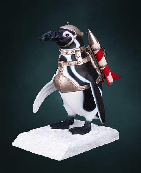 Hollywood Collectibles Group【飛彈企鵝】Penguin Commando 1:1 全身雕像