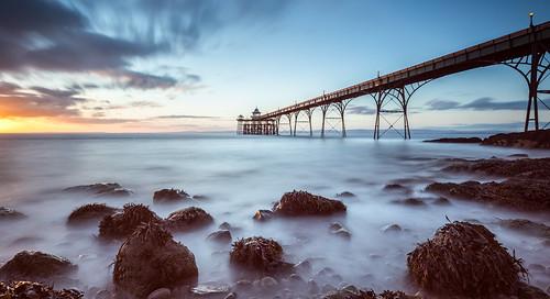 longexposure sunset southwest coast pier rocks victorian somerset coastal le clevedon northsomerset bristolchannel clevedonpier thesouthwest milkywater milkyrocks mistyrocks