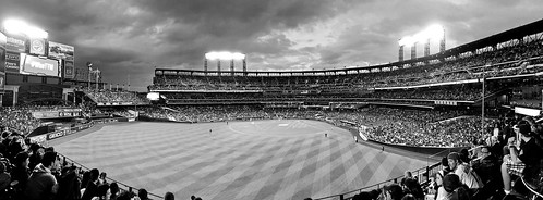 An Almost Packed Citi Field In April Panoramic; Willets Point, New York