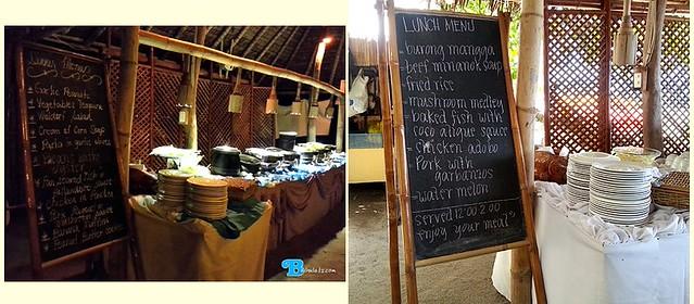 menu at La Luz resort