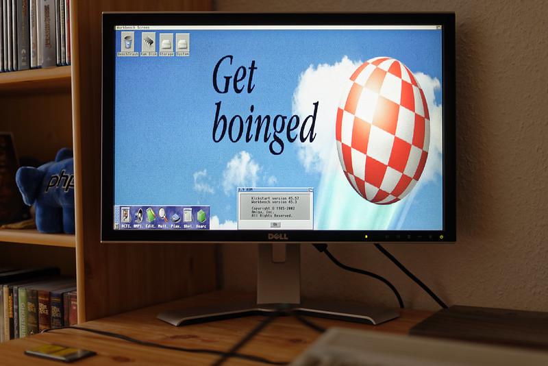 Amiga 1200 with AmigaOS 3.9