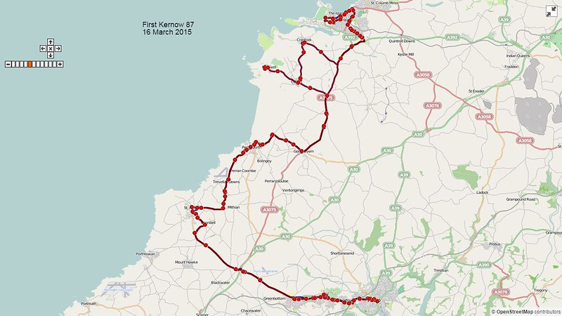 First Kernow Route-87 Map-16March2015
