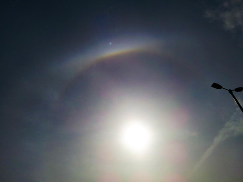 Partial 22 degree Halo & Upper Tangent Arc 3:45pm 29/03/15