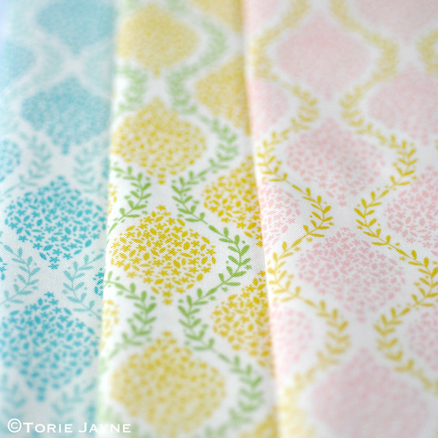 Floral garland fabric