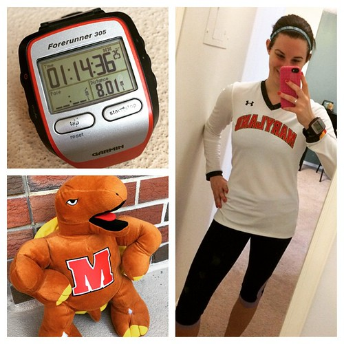 It's nice to wake up on Selection Sunday and know you're in. Obviously repped my #Terps on today's long run. Testudo approves.
