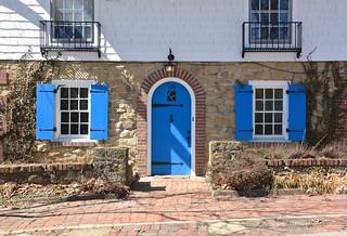Blue door, shutters