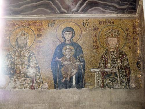 Szent Piroska mozaikja a Hagia Szophia-ban