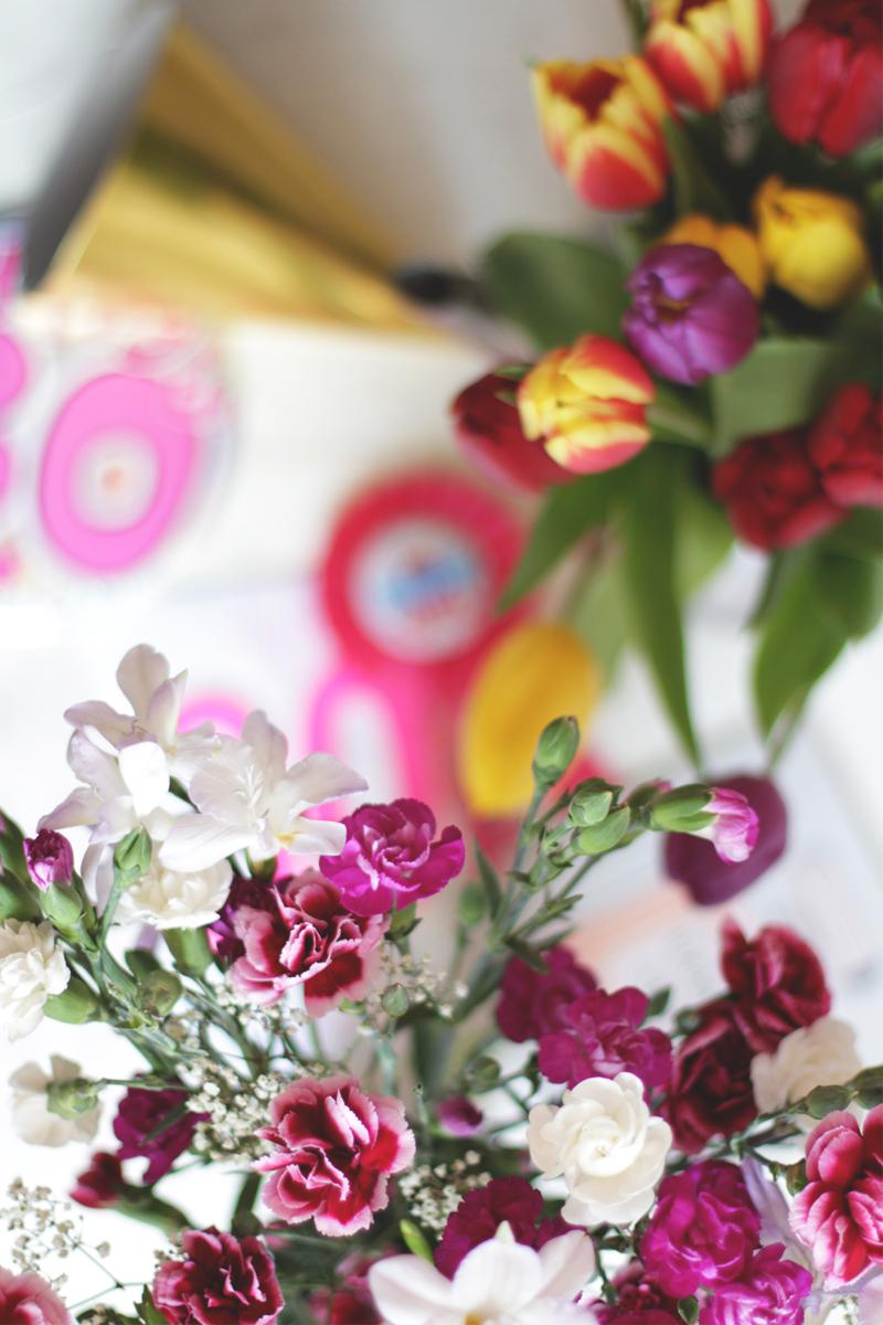 Pink and burgundy flower bouquet, Bumpkin Betty