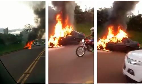 carro incendiado mgaçu