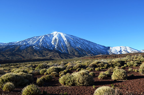 Snowy Mount Teide March