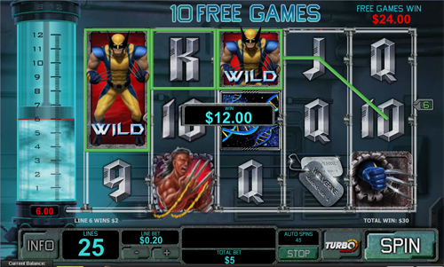 free Wolverine gamble feature