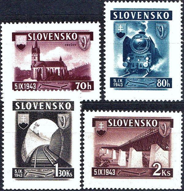 Známky Slovenský štát 1943, Železnica Prešov - Strážske