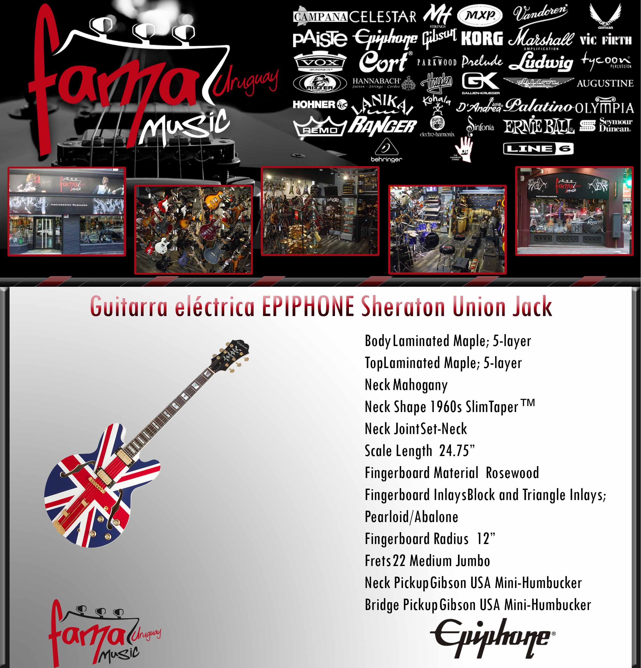 Guitarra eléctrica EPIPHONE Sheraton Union Jack