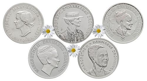 Margrethe II coins