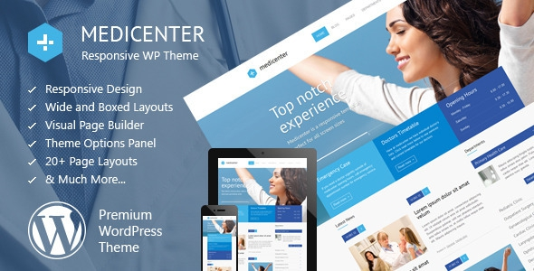 MediCenter v8.2 - Responsive Medical WordPress Theme