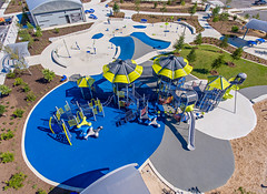 Playground and Splashpad at Pearsall Park