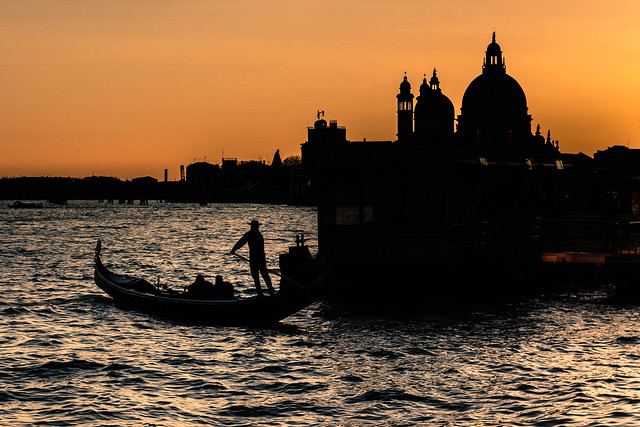 The sun sets on Venice