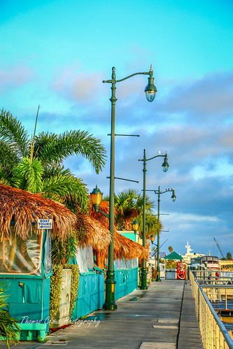 sky usa color colors clouds canon landscape outside outdoors photography photo downtown waterfront florida bluesky sidewalk hut photograph tropical tikki fortpierce 70d
